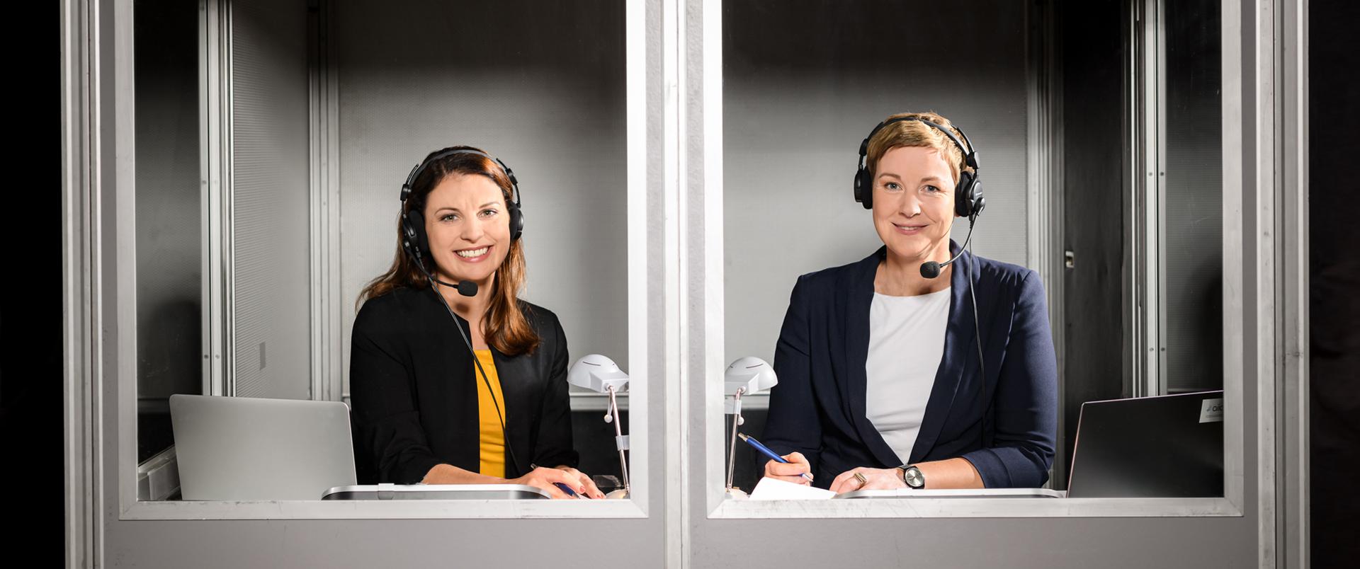 Konferenzdolmetscher Berlin: Sabrina Beilfuß und Vivi Bentin. Konferenzberatung und Konferenzdolmetschen.