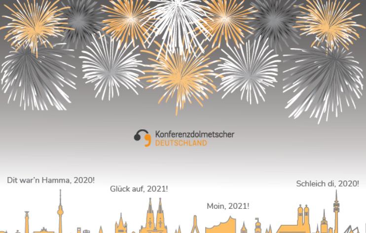 Konferenzdolmetscher Berlin wünscht Ihnen een knorke Weihnachtsfest und dat janz 2021 eene Wolke wird